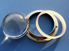 2 sets - 2 LED glass lens with silicon gasket and metal holder