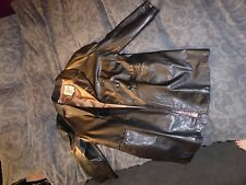 """AMI Clothing Co. vintage fully-lined men's black leather coat, 44"""" chest"""