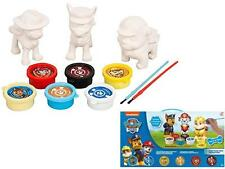 New Paw Patrol Paint Your Own Figures 3 Pack Childrens Creativity Toy Xmas Gift