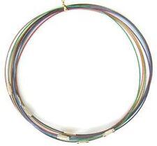 Mix 10 Bracelets Support à Mémoire de Forme 62mm en Acier avec fermoir à vis