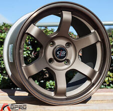 15X9 ROTA GRID 4X100 +36MM SPEED BRONZE WHEELS AGGRESSIVE FITS MAZDA MIATA
