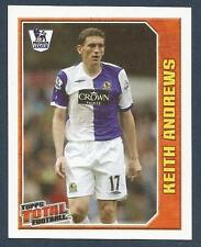 TOPPS TOTAL FOOTBALL-2009- #235-BLACKBURN ROVERS & EIRE-KEITH ANDREWS IN ACTION