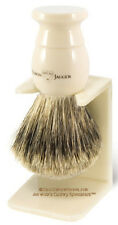 Edwin Jagger 1EJ877SDS Medium Badger Shaving Brush Ivory w/ Drip Stand
