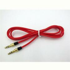 RED 3.5MM AUX STEREO AUDIO JACK CABLE CORD WIRE FOR SKULLCANDY HESH 2 HEADPHONES