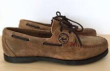 ALLEN EDMONDS Sandlot Brown New York Mets Leather Moccasin Loafers Shoes Sz 7 D