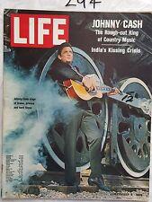LIFE MAGAZINE 1969 DEC 8,INTERNATIONAL EDITION,JOHNY CASH COVER & FEATURE