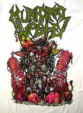 MUNICIPAL WASTE cd lgo GREEN LOGO RATS Official WHITE SHIRT MED new