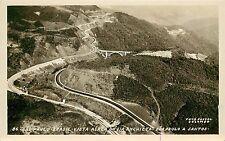1940s RPPC Postcard Sao Paulo Brasil Air View Via Anchieta São Paulo à Santos