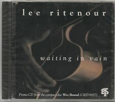 LEE RITENOUR WAITING IN VAIN + BOSS CITY + 4 ON 6 - PROMO CD SINGLE 1993 SEALED