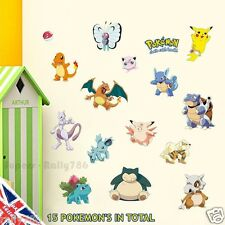 15 Pokemon Go X Y Game Pikachu Rizadon Myutsu Wall Decal Art Stickers Vinyl Room