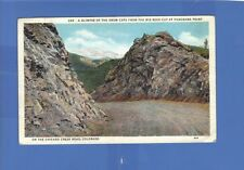 SNOW CAPS FROM BIG ROCK CUT PANORAMA POINT CHICAGO CREEK ROAD CO 1937  WB PC