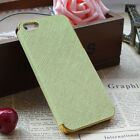 PC Shockproof Dirt Dust Proof Hard Leather Gold Case Cover For APPLE iPhone 5 5S