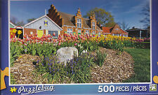 NEW Puzzlebug 500 Piece Puzzle - Colorful Tulips Windmill Island - FREE SHIPPING