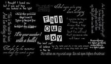 Fall Out Boy Rock band  Fabric Art Cloth Poster 21inch x13 inch Decor 23
