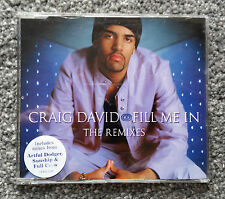 Craig David - Fill Me In - The Remixes - CD Single - VGC - Tested