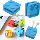 Block Earphone Holder Headphones Wire Organizer Cable Cord Wrap Earbud Winder