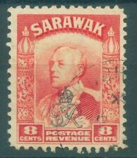 [JSC]~1947 SARAWAK BROOKE EMPIRE OLD STAMP ~ RED