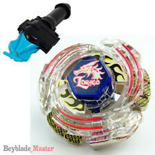 Fusion METAL Beyblade Masters BB-43 Lightning L-Drago+BLUE STRING LAUNCHER+GRIP