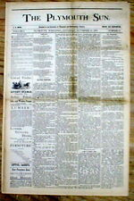 1879 newspaper w FALSE REPORT of the shooting DEATH Missouri outlaw JESSE JAMES