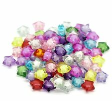 Mixed Acrylic Star Spacer Beads 12mm, 180 Pack (1.9mm Hole)