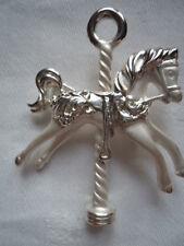 Vintage Signed Danecraft Silvertone/Matt Carousel Horse Brooch/Pin