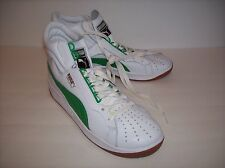 NWOB PUMA HI TOP Men's White/Green Leather Sneaker Shoes US Sz 10M