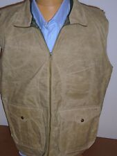Filson Soy Waxed Cotton Guide Vest Hunting Vest NWT Mediu $285 Khaki made in USA
