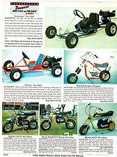 1973 AD MINI-BIKES, MINI-CYCLES, KARTS STARS AND STRIPES CHOPPER, PATROIT KART