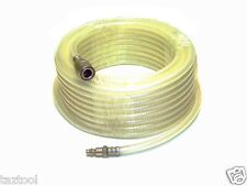 "33 ft 1/4"" ID Clear Air Compressor Hose with Quick Couple and Fitting Tool kit"