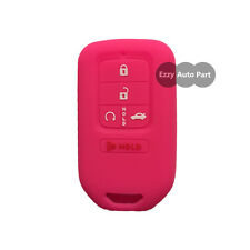 New Hot Pink Silicone Key Cover Case Holder Chain Bag fit for Honda Accord CR-V