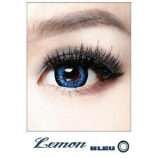 Lentilles de Couleur BLEUE Big Eyes LEMON Duree 365j. Filtre Contact UV +Etui