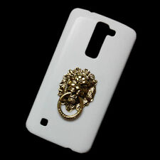 Fashion Bronze Lion Head Ring Stand Pattern Back Cover Case for Various Phones