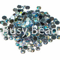 1000 x Crystal AB Acrylic Flat Back Rhinestone Diamante Gems 2mm - 6mm