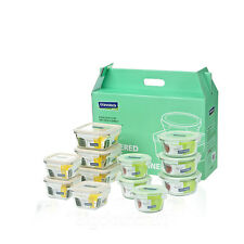 12Pcs Set GlassLock Safety Tempered Glass Taper Food Container