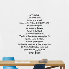Harry Potter Quotes Wall Decal Movie Poster Vinyl Sticker Home Decor Mural 83quo