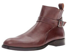 DONALD J PLINER Santino Brogued Calfskin Gored Chelsea Boots 10 US Made in ITALY
