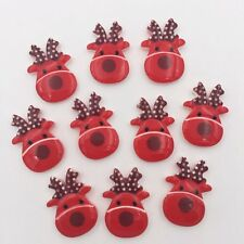 DIY 10pcs Resin hand painting Christmas Deer Flatback stone/Children scrapbook