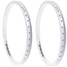 "NEW 2 x Hoffman Generator BMX Rim 48 Spoke White 20"" Mid School RARE NOS Rims"