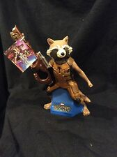 """NEW GUARDIANS OF THE GALAXY ROCKET RACCOON 10"""" CHARACTER COIN BANK NWT $$$ Safe"""