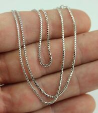 "14K WHITE GOLD 18"" FRANCO LINK CHAIN NECKLACE 1 MM NEW 3.1 GRAMS  9A"