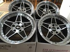"FYK ED3 17"" 8.5j 10j Alloy Wheels 5x112 EURO DRIFT Audi Mercedes VW Golf BBS RS"