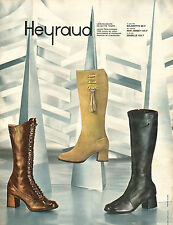 Publicité Advertising 1970  HEYRAUD chaussures bottes souliers collection mode