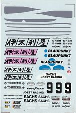 #9 BLAUPUNKT Porsche 956 - 962 1/24th - 1/25th Scale Waterslide Decals