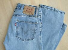 Levi's 505 Straight Fit WORN IN Faded Light Natural Wash 29x32
