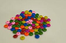 30 Mixte Perles intercalaires en Bois, 12mm Perle rondelle 12x5 mm pour Creation