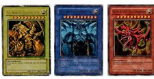 Yu-Gi-Oh Japanese God Cards Slifer GBI-001, Obelisk GBI-002, Winged GBI-003 MP