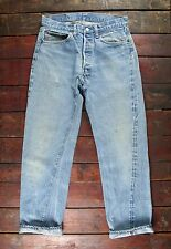 VTG 70s LEVI'S 501 BLUE SELVEDGE DENIM REDLINE JEANS LITTLE E #6 USA W30 L30