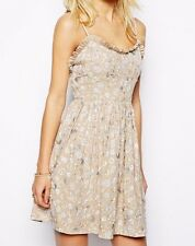 Needle & Thread Nude Jasmine Floral Strappy Summer Mini Evening Dress 8 36 £200