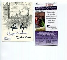 MARGARET THATCHER+GORDON BROWN+JOHN MAJOR SIGNED BOOKPLATE   PRIME MINISTERS JSA