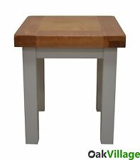 Tuscan Grey Painted Oak Small Oak Lamp Table / Side Table /  Oak End Table / New